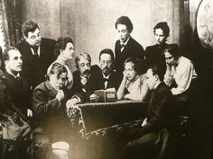 Chekhov (centre, reading) is widely acknowledged as the greatest ever short story writer