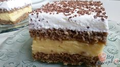 Unforgettable nut cream slices from Hungary - Essen und Trinken - Kuchen Oreo Dessert Recipes, Pudding Desserts, Gluten Free Desserts, Easy Desserts, Delicious Desserts, Cake Recipes, Italian Cookie Recipes, Hungarian Recipes, Czech Desserts