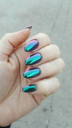 #chrome camaleón #nails