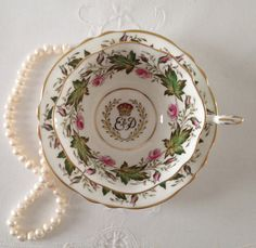 Paragon China Tea Cup & Saucer Coronation by NicerThanNewVintage