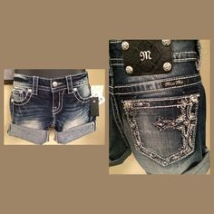 Miss Me mid rise denim shorts Blue wash factory distressed.  JP5538D.  Roll them up or down. Rare design.  Brand new never worn. Miss Me Shorts Jean Shorts