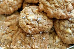 A Feast for the Eyes: Vanilla Salted Peanut Cookies (and my extended absence)