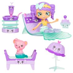 Happy Places Shopkins Mermaid Tails Surprise Me Pack - Hot Springs Day Spa Baby Girl Toys, Toys For Girls, Lol Dolls, Barbie Dolls, Shopkins Happy Places, Shopkins And Shoppies, Mermaid Toys, Monster High Custom, Baby Alive