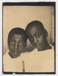 African American Boys Kids Touch Heads Affection VTG Photobooth Photo | eBay THOSE EYES TELL IT ALL,