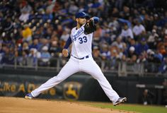 CrowdCam Hot Shot: Kansas City Royals starting pitcher James Shields delivers a pitch in the first inning against the Cleveland Indians at Kauffman Stadium. Photo by John Rieger