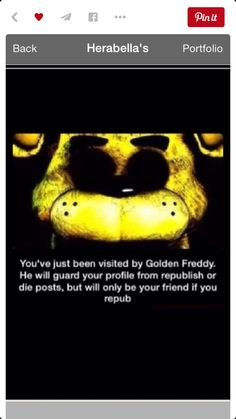Republish!!!!<<I LOVE GOLDEN FREDDY HES AWESOME
