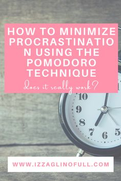 """Today I am sharing with you a simple tool I use to minimize procrastination - the Pomodoro Technique. Procrastination has always been a struggle for me. It takes me time getting started on tasks, especially on the more important ones. I have a number of excuses for not doing them on time - """"I'm too tired"""" or """"I can do it at a later time"""". The Pomodoro Technique is one of the most useful tools I have used lately. Let's begin. I Can Do It, Let It Be, Take My Time, Executive Functioning, Being Used, Productivity, Tired, Minimalism, Number"""
