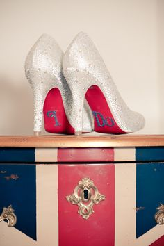 I do Wedding heels with a pink Sole