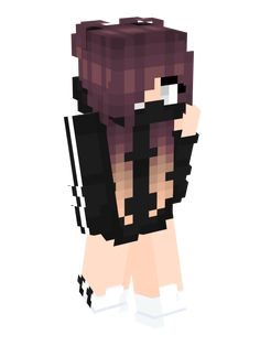 Please someone tell me where to find this damn skin! - Minecraft World Minecraft Character Skins, Minecraft Skins Female, Skins For Minecraft Pe, Minecraft Skins Aesthetic, Minecraft Anime, Minecraft Characters, Minecraft Games, Minecraft Houses, Minecraft Skins Ninja Girl