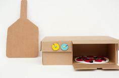 DIY Shoebox Pizza Oven Toy