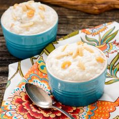 Slow-cooker Kheer (indian Rice Pudding) With Whole Milk, Basmati Rice, Sweetened Condensed Milk, Golden Raisins, Slivered Almonds, Ground Cardamom