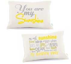 You are my sunshineWedding Pillow 2nd anniversary pillow by Tulito