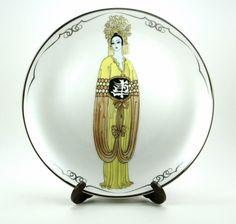 Plum Blossom House of Erté The Franklin Mint Fine Porcelain Decorative Plate Sevenarts LTD HB7320