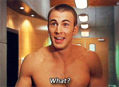 This cracks me up. Plus, Chris Evans... even though this is human torch. i am putting this on my captian america board