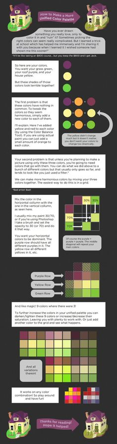 Psychology infographic and charts Unified Color Palette Tutorial by Cpresti. on Infographic Description Unified Color Palette Digital Art Tutorial, Digital Painting Tutorials, Art Tutorials, Pixel Art, Deviantart, Color Script, Illustrator Tutorials, Drawing Tips, Drawing Reference