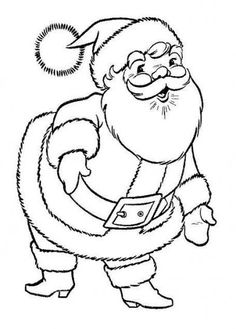 Printable Santa Claus coloring page Free PDF download at http