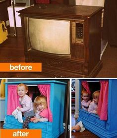 Recycled tv console