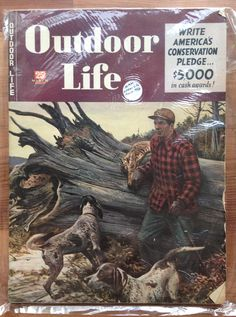 Vintage March 1946 Outdoor Life Magazine Hunting Fishing Trout Dog Guns. $5.00, via Etsy.