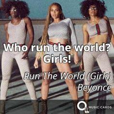 Who run the world? #DayoftheGirl BEYONCÉ http://musiccards.co/lyrics/beyonce/who-run-the-world-girls/192