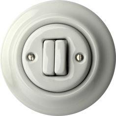 Porcelán villanykapcsolók - két billentyűs () - ALBA | Katy Paty