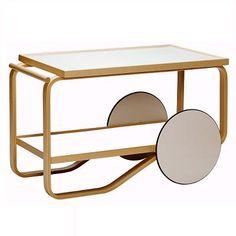 Tea Trolley by Alvar Aalto for Artek.