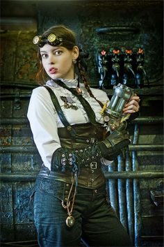A curated collection of steampunk and dieselpunk fashion to bring out your unique style. Steampunk Couture, Gothic Steampunk, Steampunk Mechanic, Moda Steampunk, Arte Steampunk, Steampunk Artwork, Style Steampunk, Steampunk Cosplay, Steampunk Clothing