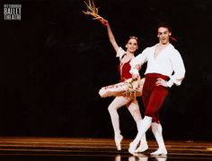 George Balanchine's Tarantella premiered 52 years ago today. Here's a 1999 shot of artists Maribel Modrono and Terence Marling dancing this dashing pas de deux. #TBT Photo by: Randy Choura