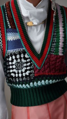 Burberry® Official Site Hand-embroidered Wool Cashmere Blend Tank Top in Multicolour - Women Knitwear Fashion, Knit Fashion, Fashion Outfits, Womens Fashion, Hippie Look, Crochet Clothes, Diy Clothes, Looks Style, My Style