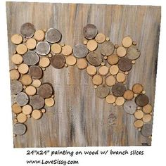 tree branch slice art