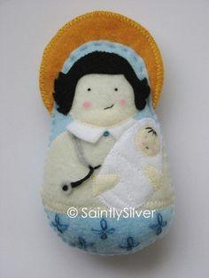 Saint Genevieve Felt Saint Softie por SaintlySilver en Etsy