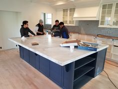 Custom cabinets and granite