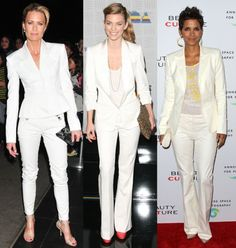 Tailored white pant suit... Takes you anywhere you want to go!