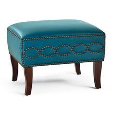 Stella Leather Ottoman