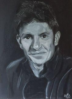Eigen werk. Pastel portret op zwart papier. A3 formaat. George Michael, Pastels, Fictional Characters, Shop Signs, Fantasy Characters