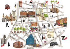 East London Map by Lucy Dalzell on The Dots. London Map, East London, Brick Lane, Pick And Mix, Travel Illustration, Map Design, London Photos, Map Art, Plans