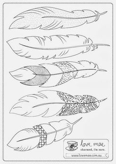 Discover thousands of images about free printable feather Creative Drawing Ideas and Topics for Kids - Cartoon DistrictHope you are all enjoying the break… a little something to for the little ones. Hopefully it gives you a few minutes f 3d Zeichenstift, Feather Template, Feather Art, Feather Stencil, Feather Design, Feather Crafts, Feather Tattoos, Art Tattoos, 3d Templates