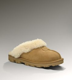 Ugg Australia slippers! So comfy! Great for taking out the dogs or keeping my toes warm when hanging around the house.