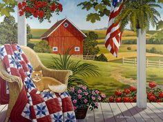 American Patchwork-- John Sloane. Love his work.