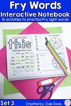 Are you looking for a fun, hands-on way for teaching sight words? Your kids will love learning & using these interactive notebooks to learn their sight words! This is the third set of 10 sets of the Fry First 100 Sight Word! Each week focuses on 10 different high frequency words. These printable worksheets are perfect for Kindergarten, first Grade, & 2nd Grade. Great for centers, word work activities, homework, & small groups. Great activity for struggling readers! #sightwords #tpt