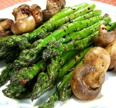 50 Most Popular Facebook Recipes Roasted Asparagus with Mushrooms