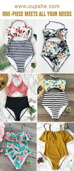 Start to shine~ These flattering one-piece swimwears are chic must-have! Your perfect option for a beach leave~ Listen! The sea is calling~ Get these fantastic one-pieces ready with you at Cupshe.com !