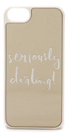 Kate Spade New York Seriously Darling iPhone 5 / 5S Case   SHOPBOP SAVE 25% use Code:FAMILY25