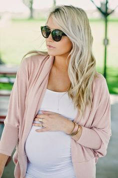 Short Sleeve Scoop Neck Side Ruched Maternity T Shirt from A Pea in the Pod // Blush Oversize Cocoon Cover Up from Windsor