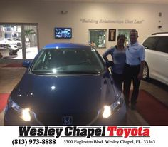 Had a great opportunity to make a great deal for an old friend of mine! Came home from a 7 month deployment ready to get a car again. Stationed in Jacksonville. So happy with her new 2015 Civic with only 14432 miles on it! And a lifetime warranty!!  https://deliverymaxx.com/DealerReviews.aspx?DealerCode=NHPF  #Wesleychapeltoyota #Toyota #WCT #Honda #buildingrelationshipsthatlast #WesleyChapelToyota
