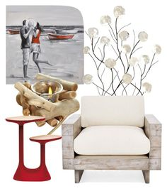 """""""red beach"""" by keishanewman on Polyvore featuring interior, interiors, interior design, home, home decor, interior decorating, Universal Lighting and Decor and Moustache"""