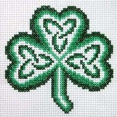 Claddagh Cross Stitch Celtic Knot Shamrock Pattern FREE
