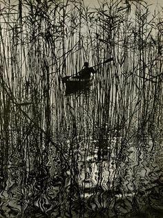 Ruth Hallensleben (German, 1898 - 1977). Along the Bondensee at Mainau Original vintage magnagravure. c1961. Printed 1962.