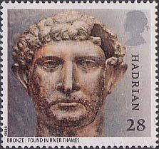 Roman Britain 28p Stamp (1993) Emperor Hadrian (bronze head) Royal Mail Stamps, Uk Stamps, Roman Britain, Postage Stamp Art, Kingdom Of Great Britain, Roman Emperor, River Thames, Penny Black, Stamp Collecting