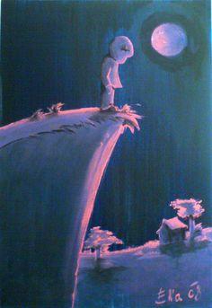 Pink Moon, Acrylics on Canvas Pink Moon, My Works, Acrylics, Canvas, Digital, Painting, Art, Tela, Art Background