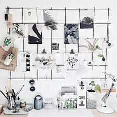 80 Creative Apartment Hacks Decor Ideas And Remodel Memo Boards, Wire Memo Board, My New Room, My Room, Dorm Room, Metal Grid, Metal Board, Apartment Hacks, Tumblr Rooms